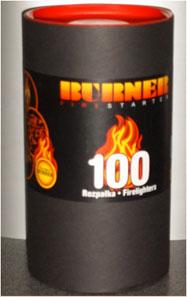 RADECO T BURNER 100 db-os begyújtó tasak papírhengerben