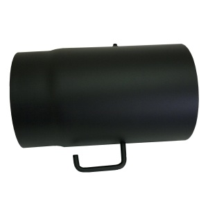 Wamsler 150 mm-es füstcső elzáróval - fekete (250 mm)