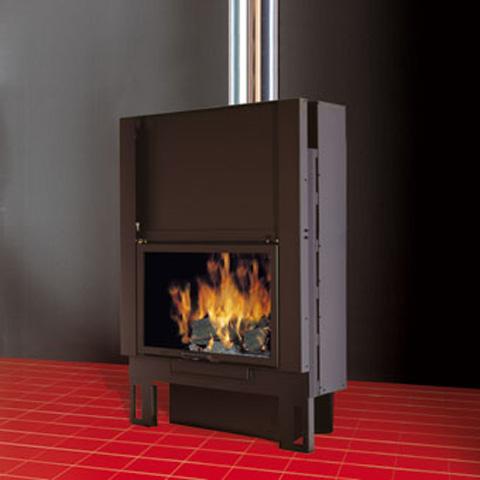 EDILKAMIN TEKNO 1 UP  fatüzelésű zárt tűztér természetes légáramlás (N)