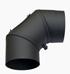 Radeco Állítható acél füstcső könyök, 200 / 90°