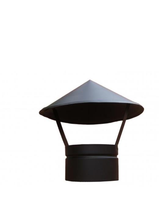 Fekete esővédő sapka 150mm