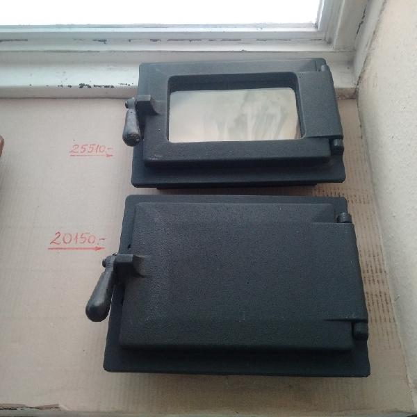 Wamsler öntvény cserépkályha ajtó üveggel és hamuzó / alkatrész